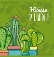cute houseplants cartoons vector image