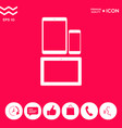 different modern personal gadgets tablet phone vector image