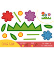 education paper game for children flowers vector image vector image