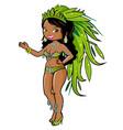 Exotic carnival dancer woman