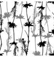 floral seamless pattern with camomile silhouettes vector image vector image