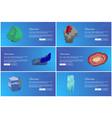 gemstones web poster set aquamarine agate sapphire vector image vector image