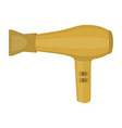 gold hair dryer isolated on white vector image vector image