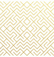 golden geometric pattern background with abstract vector image vector image