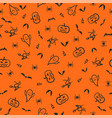 halloween seamless pattern background hand vector image