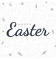happy easter typography poster on the hand-draw vector image vector image