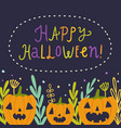 happy halloween beautiful greeting card vector image vector image
