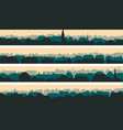 horizontal banners of big european city vector image