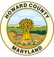 Howard county seal vector image vector image