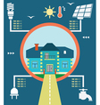 Infographic of energy home vector image vector image