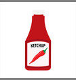 ketchup bottle isolated on white background vector image vector image