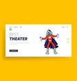 kids theater performance or talent show spectacle vector image