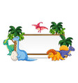 many dinosaur on whiteboard vector image vector image