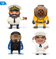 maritime professions vector image vector image