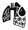 pneumonia virus lungs icon simple style vector image