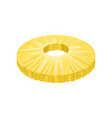 round peeled slice of sweet pineapple fresh and vector image vector image