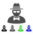 secret agent flat icon vector image