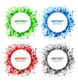 Set of Bright Abstract Circles Frames vector image vector image