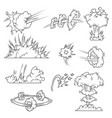 set of explosion bubbles vector image vector image