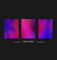 set of trendy gradient backgrounds for cover vector image vector image