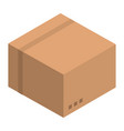shop carton box icon isometric style vector image vector image