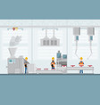 smart industrial factory in a flat style with vector image