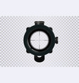 sniper scope crosshairs in realistic style vector image vector image