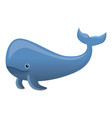 sperm whale icon cartoon style vector image