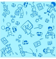 Student doodle art vector image vector image