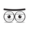 suspicious eyes cartoon vector image vector image