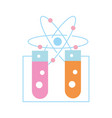 test tube atom molecule chemistry laboratory vector image