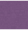 Thin Home Technology Seamless Dark Purple Pattern vector image vector image