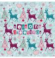 Vintage Christmas Deer Card vector image vector image