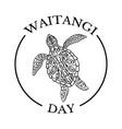 waitangi day national day of new zealand ethnic vector image