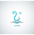 water drop logo concept background vector image