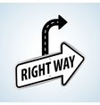Way design street and road sign concept editable vector image vector image