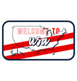 welcome to usa vintage rusty metal sign map vector image vector image