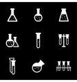 white chemistry icon set vector image