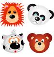 animal faces clip art design vector image
