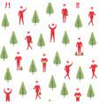 seamless christmas pattern santa claus and vector image