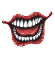 smiling mouth vector image