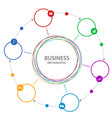 abstract business circle infographic vector image