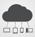 Abstract cloud scheme vector image vector image
