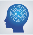 abstract icon human brain and maze s vector image vector image