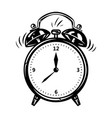alarm clock in comic style vector image