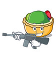 army fruit tart character cartoon vector image