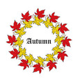autumn poster background with bright maple leaves vector image vector image