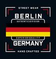 berlin typography stylish graphics design vector image vector image