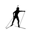 biathlete runs the distance black icon vector image