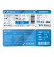 boarding pass composition vector image vector image